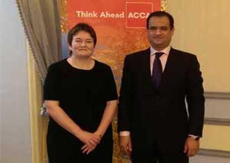 جلسه مشترک مدیر عامل موسسه حسابرسی آزمون پرداز با مدیر عالی اجرایی انجمن حسابداران خبره رسمی انگلستان (ACCA)